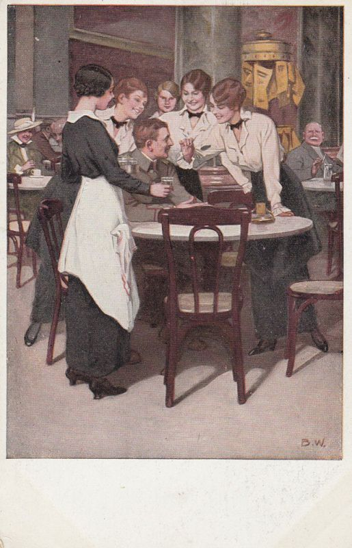AK Kriegspostkarte B. Wennerberg Nr. 1 Der Stammgast Feldpost 1915