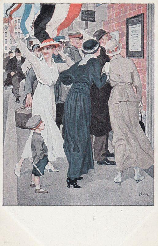 AK Kriegspostkarte B. Wennerberg Nr. 10 Siegesdepesche Feldpost 1915