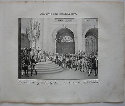 Napoleon Ehrenlegion Invalidenkirche Orig Lithographie 1832 Napoleonische Kriege