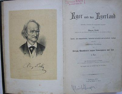 Vinzenz Prökl Eger und das Egerland 2 Bände 24 Lithos 1877 Tschechien