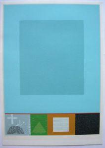 Wilhelm Holderied (1940) Teer + Himmel Orig Farblithografie signiert 1973