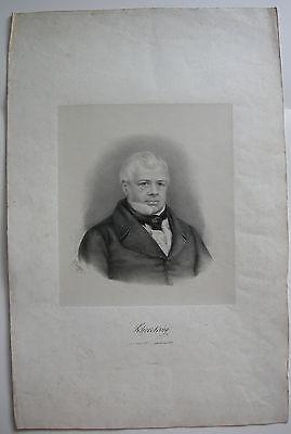 Otto Speckter Portrait Karl Sieveking Hamburger Syndikus Orig Lithographie 1847