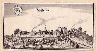 Rosenfeld Balingen Baden Württemberg Orig. Kupferstich M. Merian 1650