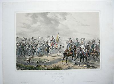 Wiener Freiwillige Aufstand Lombardei Lithographie 1849 Bachmann-Hohenstein