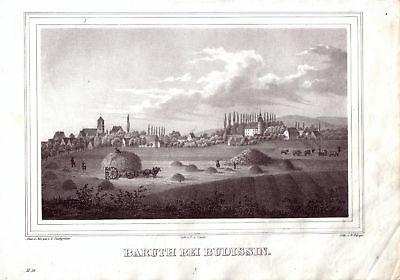 Baruth bei Bautzen Sachsen Lithographie 1842