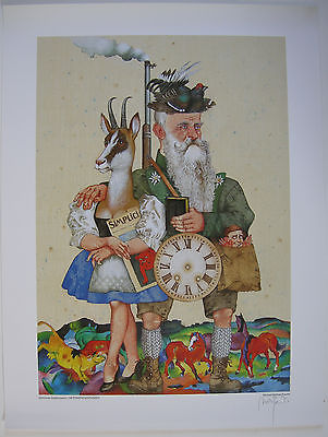 Michael Mathias Prechtl Der Prinzregent Orig. Offset Plakat signiert 1980