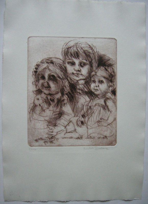Herbert Bodemer (1941) Zum Muttertag Orig Radierung 1974 signiert