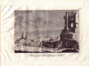 Endler Gröditzberger Ruine Schlesien Aquatinta 1801 Slask Polen