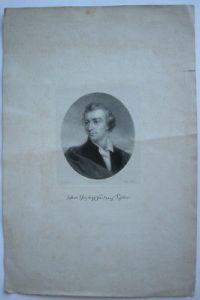 Friedrich Schiller (1759-1805) Portrait im Oval Orig Lithografie Milster 1825