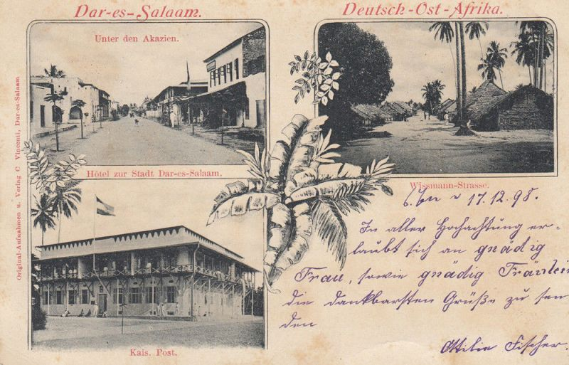 AK Dar-es-Salaam Wissmann-Strasse Deutsch-Ost-Afrika Kolonien gel 1898 Afrika
