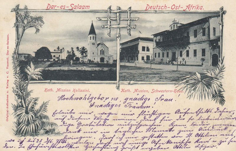 AK Dar-es-Salaam Mission Kollasini  Deutsch-Ost-Afrika Kolonien gel 1898 Afrika