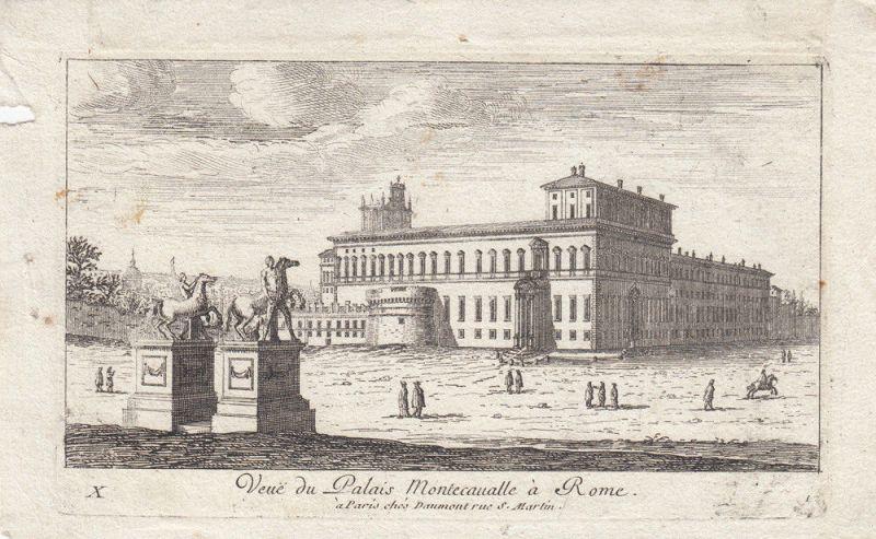 Rom Roma Palazzo Montecavalle Orig. Kupferstich 1700 Italia