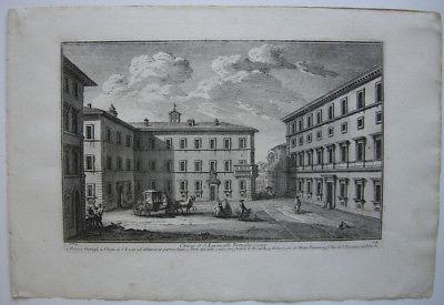 Chiesa S. Lucia alle Botteghe oscure Italia Roma rom G. Vasi Kupferstich 1760