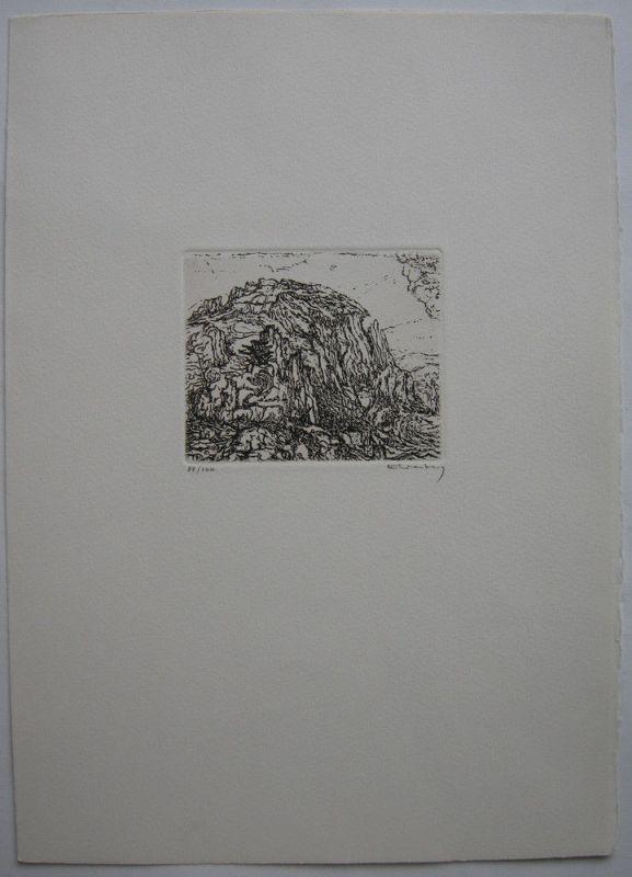 Paul Eliasberg (1907-1983) Griechische Inseln 2 Orig Radierungen 1976 signiert