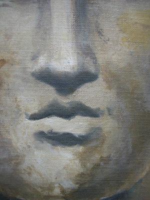 Heiner Meyer (1953) Antiker Kopf Öl auf Leinen 1999 signiert 2