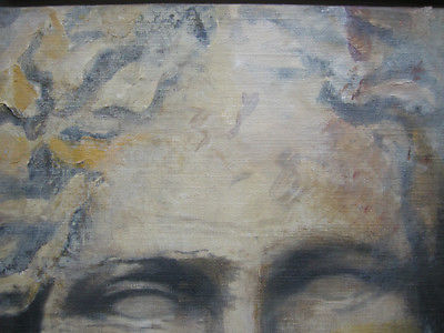 Heiner Meyer (1953) Antiker Kopf Öl auf Leinen 1999 signiert 3