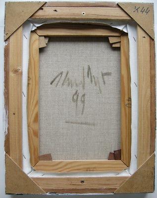 Heiner Meyer (1953) Antiker Kopf Öl auf Leinen 1999 signiert 4