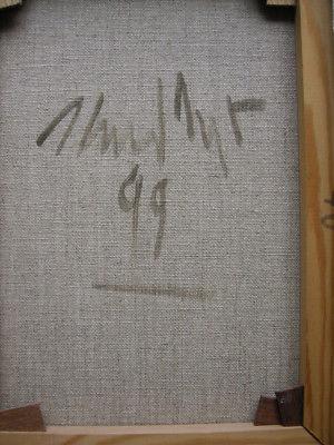 Heiner Meyer (1953) Antiker Kopf Öl auf Leinen 1999 signiert 5