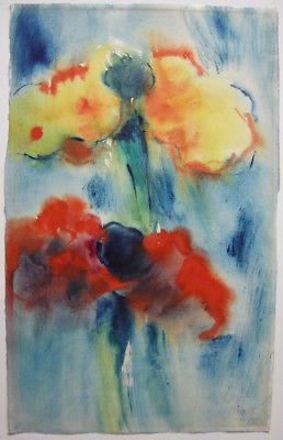Alfrfed Kohler (1916-1984)  Blumen-Stilleben Orig Aquarell signiert 1959