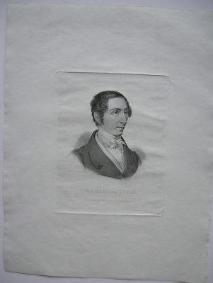 Carl Maria von Weber (1714-1784) Deutscher Komponist Orig. Stahlstich 1850