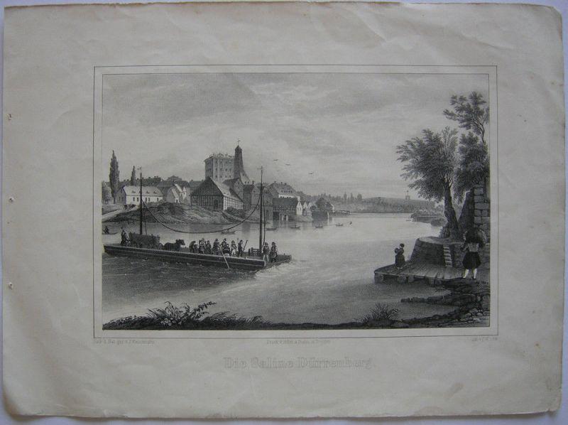 Bad Dürrenberg Saale  Sachsen-Anhalt Orig Lithografie 1840 C. W. Arldt