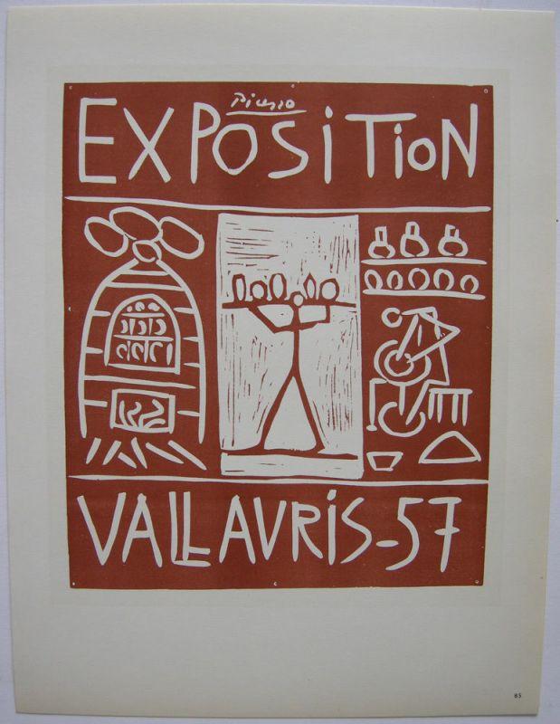 Pablo Picasso Exposition Vallauris1957 Orig Lithografie Maitres de l'Ecole 1959