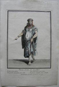 Arabische Dame von Rang altkolor. Orig. Kupferstich bei Bonnart 1700