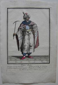 Arabischer Prinz Kostüm  altkolor. Orig. Kupferstich bei Bonnart 1700