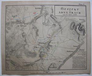 Struga Polen Polski Slask Schlesien Gefecht Adelsbach 1762 Orig Kupferstich 1800