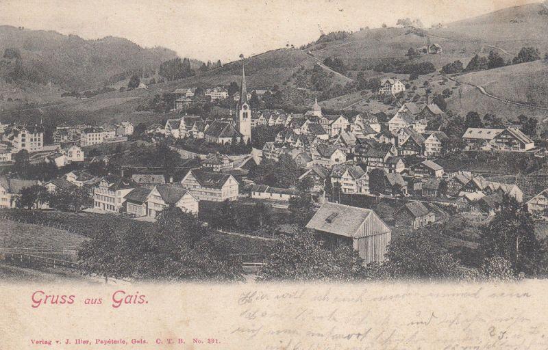 AK Gais Ausserrhoden Schweiz Appenzell Gesamtansicht gel 1904 0