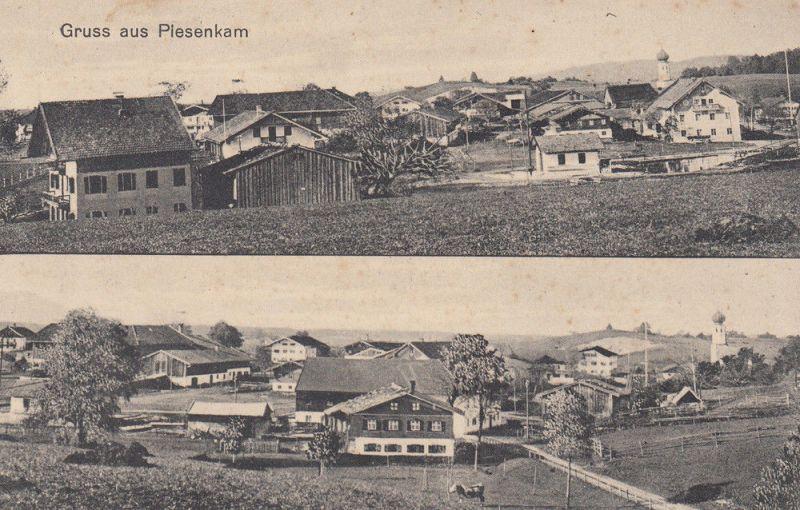 AK Plesenkam Miesbach Gesamtansicht Osten Westen ungel 1920 0