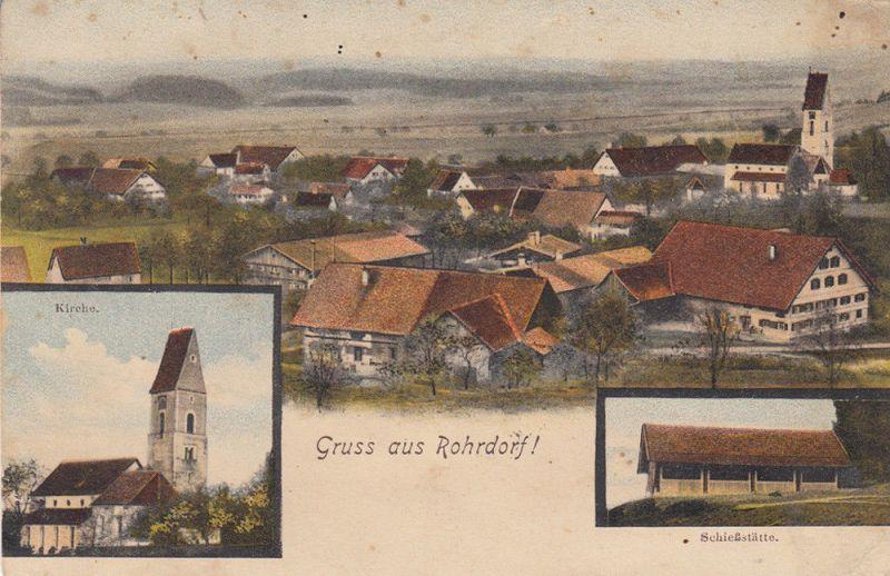 AK Rohrdorf Isny Ravensburg Allgäu Baden Württemberg gel. 1906 0