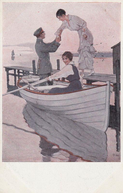 AK Kriegspostkarte B. Wennerberg Nr. 12 Heimaturlaub Feldpost 1915 0