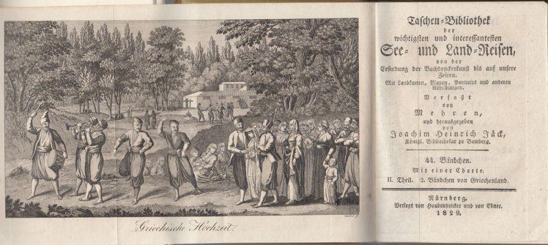 Jäck Reisen durch Griechenland 3 Bände 1828-1831 9 Kupfertafeln