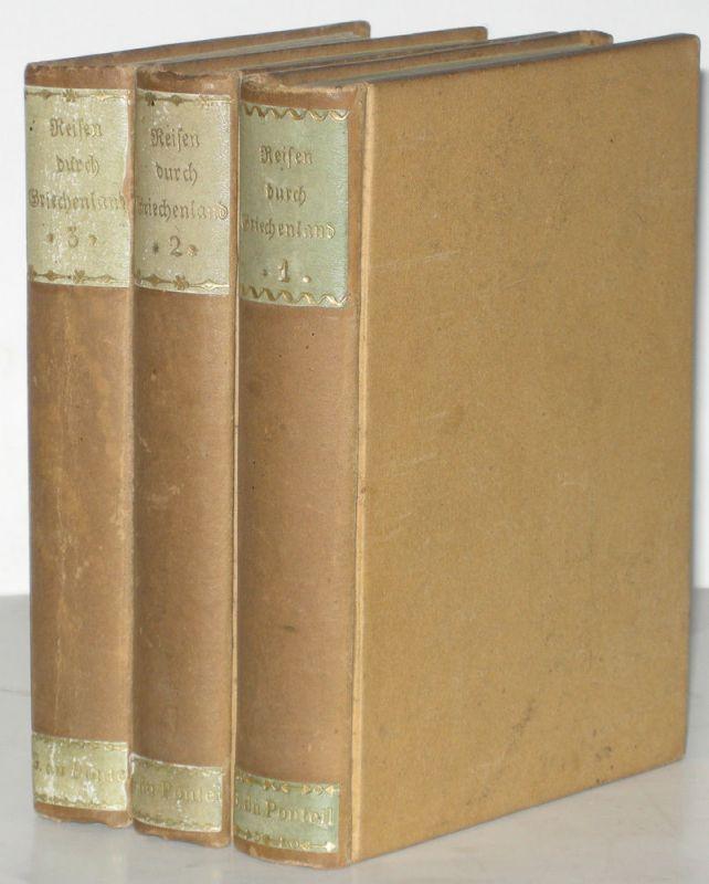 Jäck Reisen durch Griechenland 3 Bände 1828-1831 9 Kupfertafeln 1