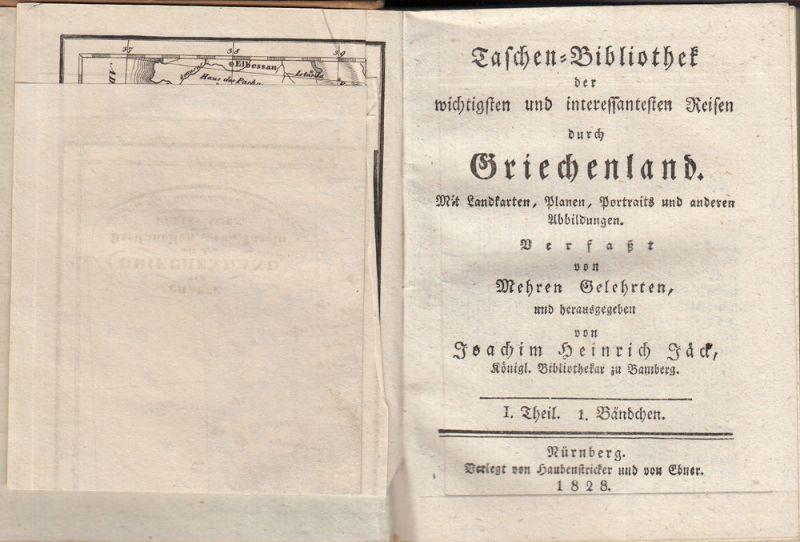 Jäck Reisen durch Griechenland 3 Bände 1828-1831 9 Kupfertafeln 10