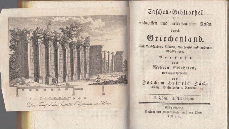Jäck Reisen durch Griechenland 3 Bände 1828-1831 9 Kupfertafeln 2