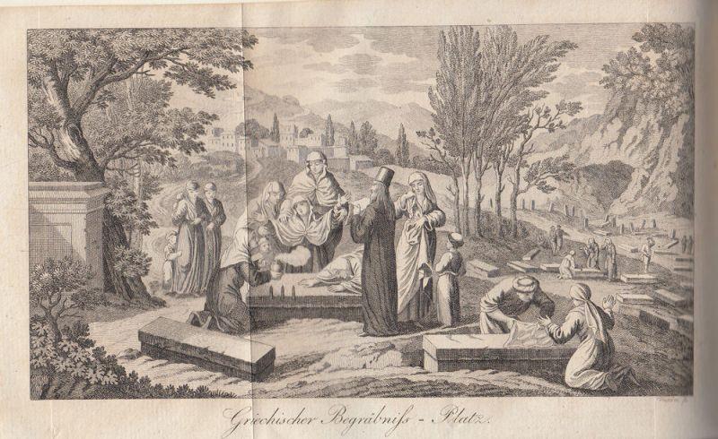 Jäck Reisen durch Griechenland 3 Bände 1828-1831 9 Kupfertafeln 3