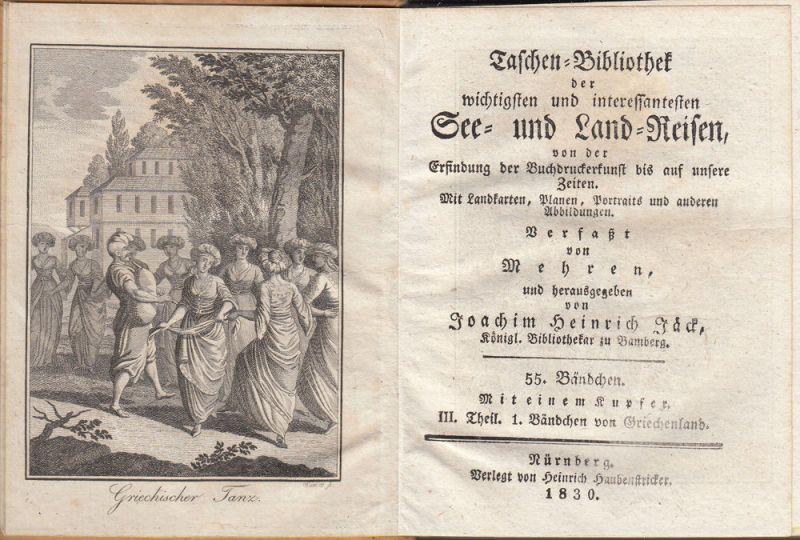 Jäck Reisen durch Griechenland 3 Bände 1828-1831 9 Kupfertafeln 5
