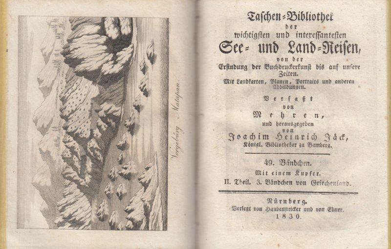 Jäck Reisen durch Griechenland 3 Bände 1828-1831 9 Kupfertafeln 6