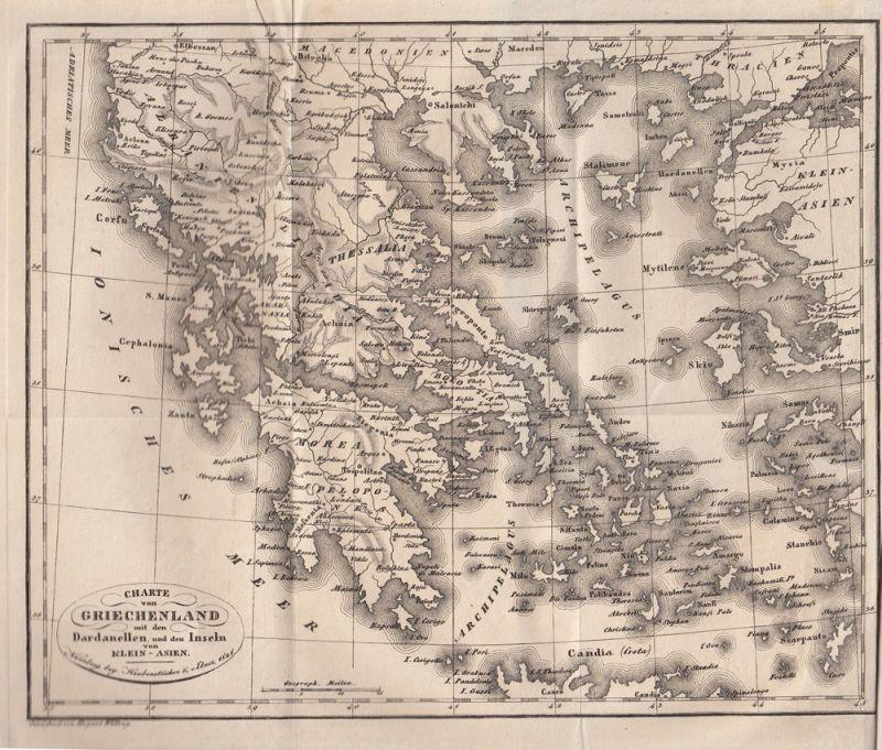 Jäck Reisen durch Griechenland 3 Bände 1828-1831 9 Kupfertafeln 8