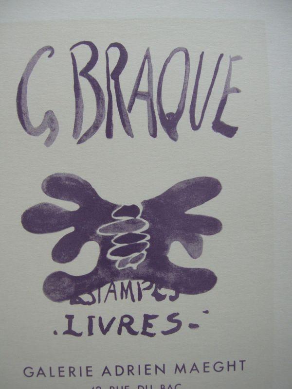 Georges Braque Estampes Livres Maeght Orig Lithografie 1959 Maitres de l'Ecole