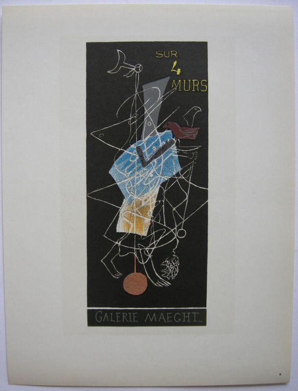 Georges Braque Plakat Maeght 4 Murs Orig Lithografie 1959 Maitres de l'Ecole