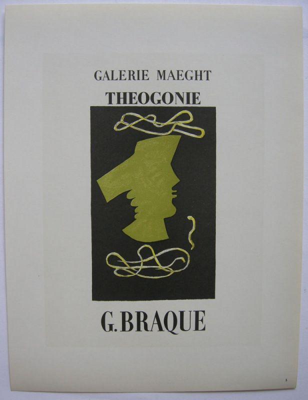 Georges Braque Plakat Maeght Theogonie Orig Lithografie 1959 Maitres de l'Ecole