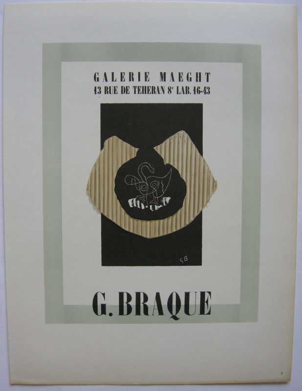 Georges Braque Plakat Galerie Maeght Orig Lithografie 1959 Maitres de l'Ecole