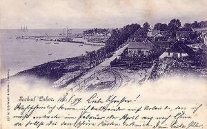 Ak Seebad Laboe bei Kiel Schleswig Holstein Partie Ostsee Litho gel 1899
