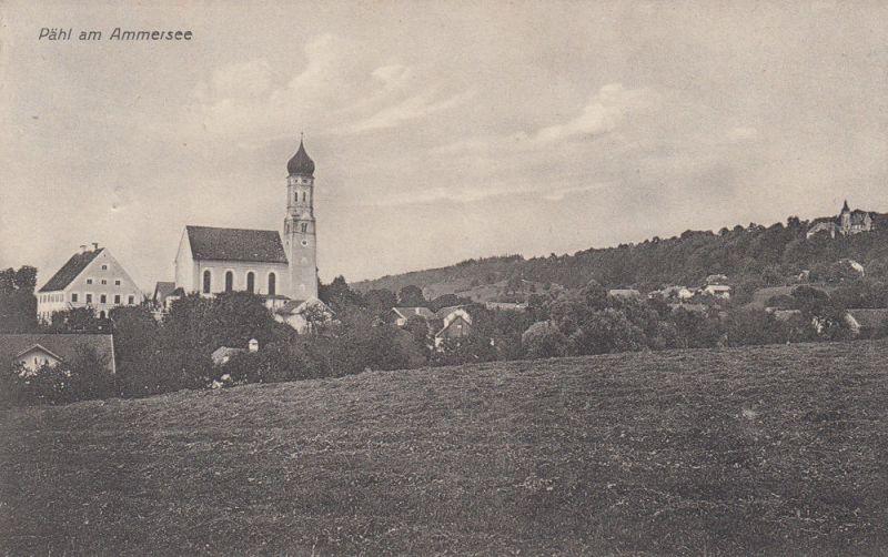 Ak Pähl Weilheim-Schongau Ammersee Gesamtansicht Kirche gel 1912