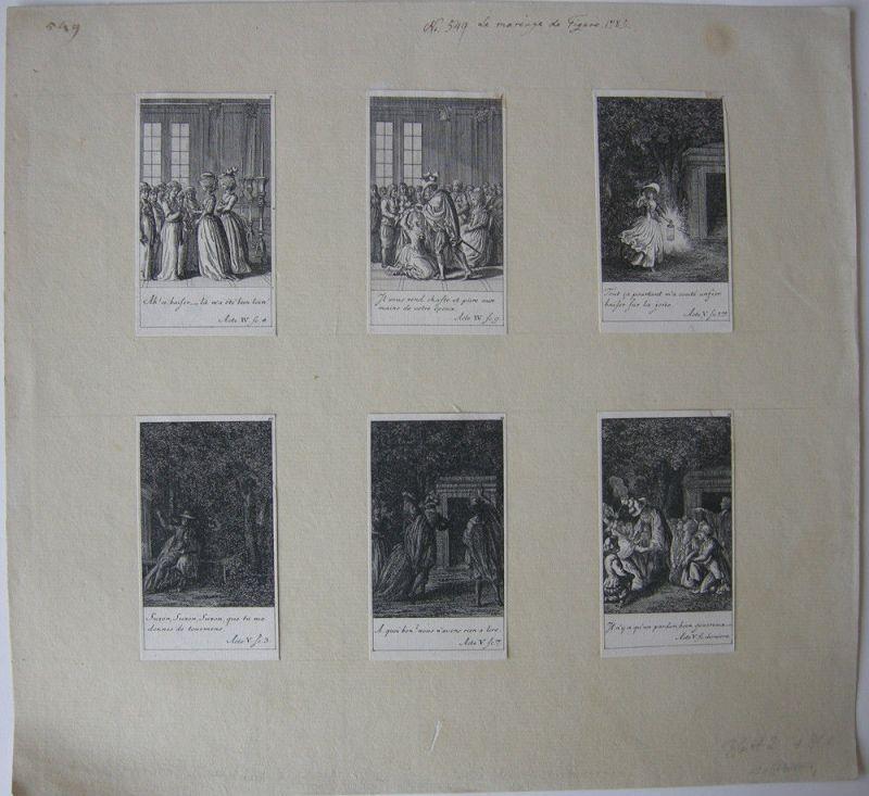 Daniel N. Chodowiecki (1726-1801) 12 Kupferstiche zu Figaros Hochzeit 1785