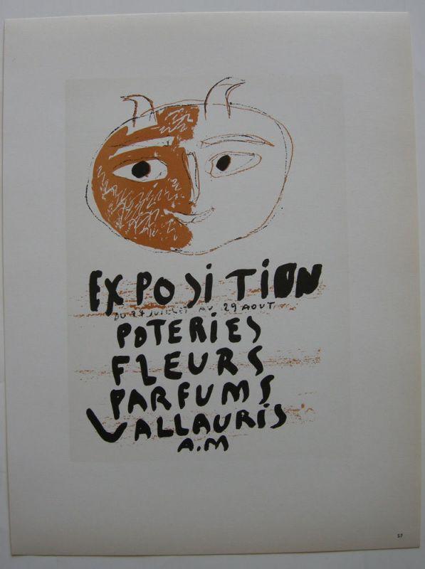 Pablo Picasso Fleurs Vallauris 1948 Orig Lithografie Maitres de l'Ecole 1959