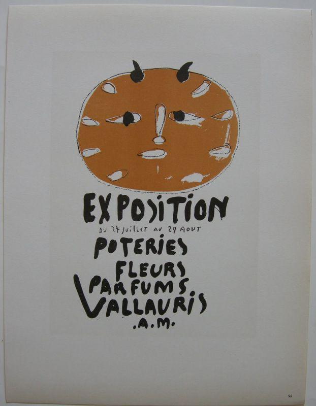 Pablo Picasso Poteries Vallauris 1948 Orig Lithografie Maitres de l'Ecole 1959